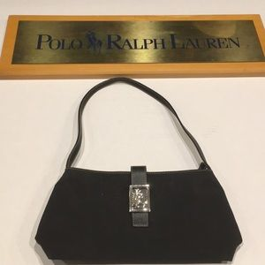 Ralph Lauren classic black clutch with strap